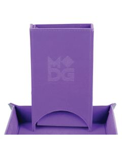 Metallic Dice Company Purple MET537 Folding Dice Tray w// Leather Backing