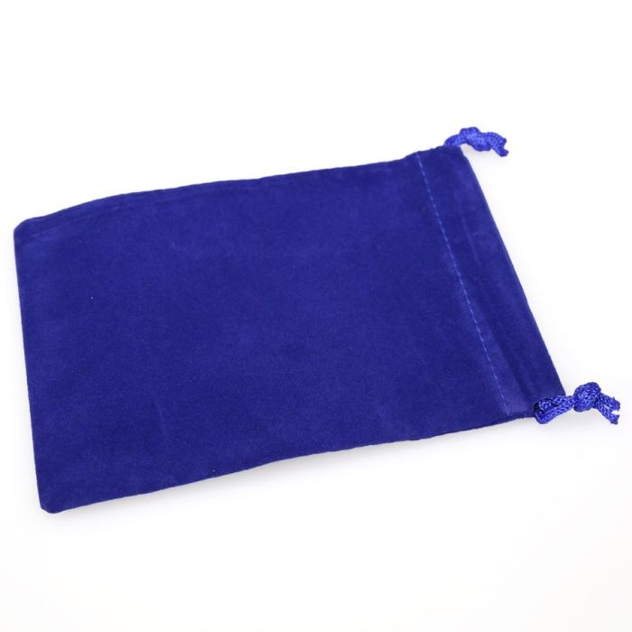 small CHX02376 Chessex Manufacturing Blue Velour Dice Pouch