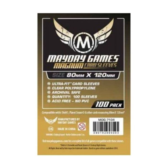 Dixit Magnum Gold Sleeves 80mm x 120mm 100 MDG7104 Mayday Games